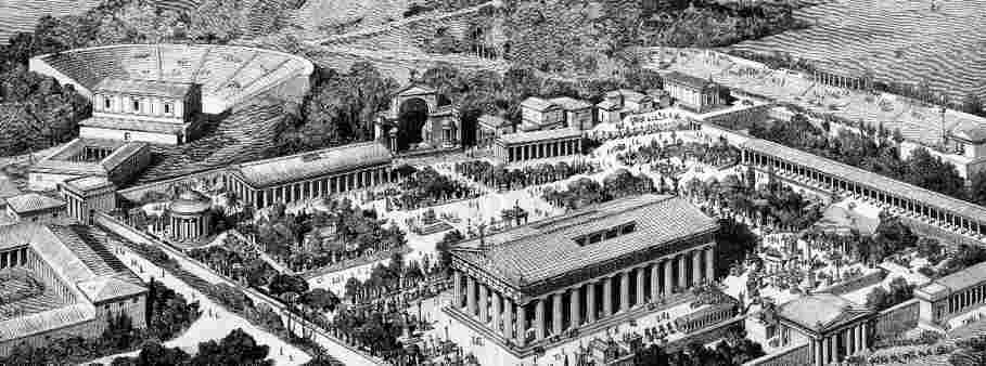 Ancient City of Olympia - Artists impression