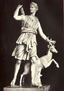 Picture of a statue of Artemis