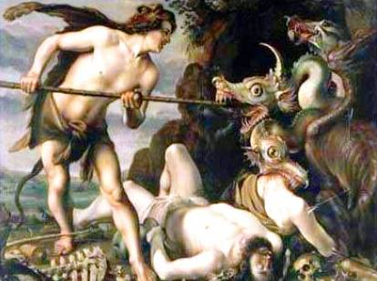Cadmus slaying the Dragon