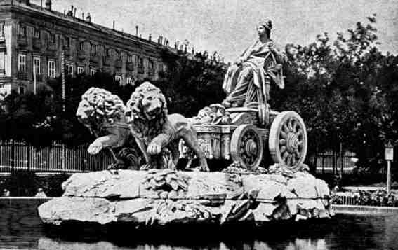 Picture of the Fountain of Rhea in Madrid