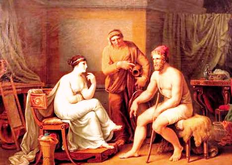 Picture of Penelope and Odysseus